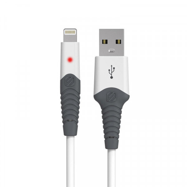StrikeLine LED 0.9m Rugged Charge & Sync Cable for Lightning Devices - White
