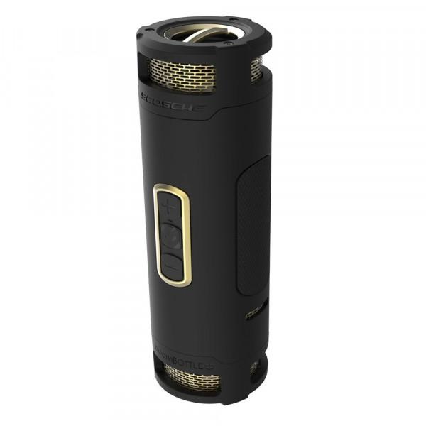 BoomBottle+ Rugged waterproof wireless portable speaker (Black/Gold)