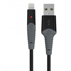 StrikeLine LED 0.9m Rugged Charge & Sync Cable for Lightning Devices - Black