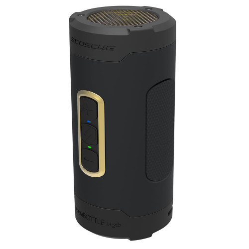BoomBottle H2O+  Rugged Waterproof Wireless Speaker (Black/Gold)