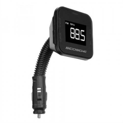 Digital FM transmitter with Back Lit Display & Flex-Neck